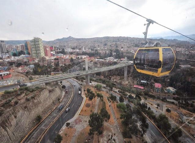 Transporte público en La Paz