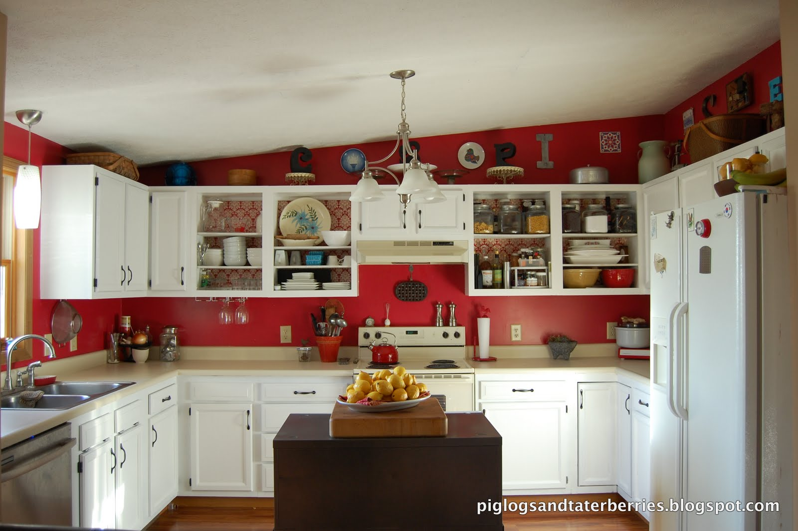 Tuscan Kitchen Paint Red