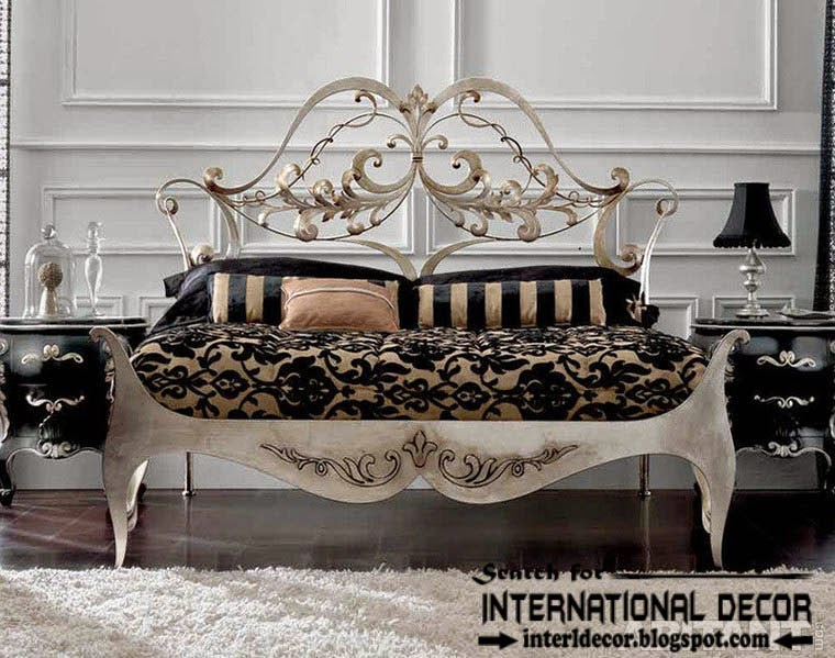 luxury Italian wrought iron beds and headboards 2015, wrought iron bedroom furniture