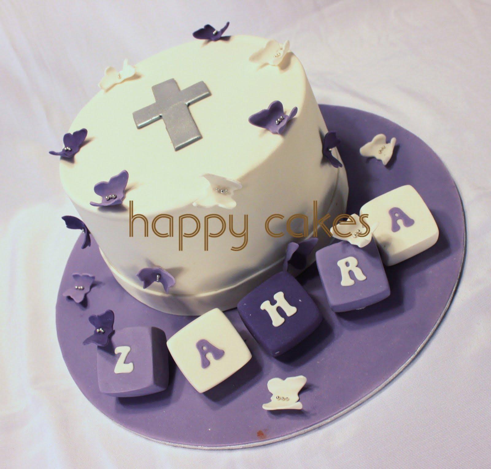Happy Cakes: Zahra's Christening Cake