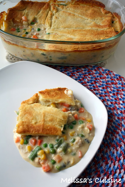 Melissa's Cuisine: Cheesy Chicken Pot Pie
