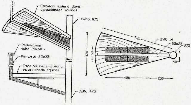 C tedra de materiales y t cnicas iii escalera caracol - Dimensiones escalera de caracol ...