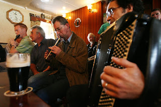 A seisiun takes place during Willie Clancy Summer School in Co. Clare.