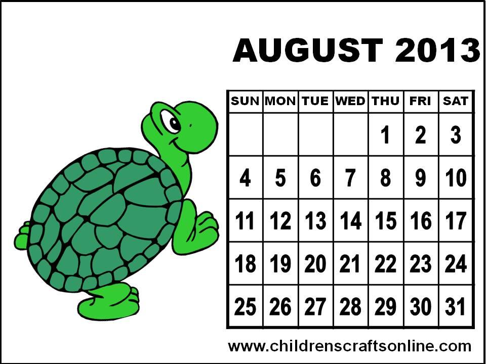 "Calendar Art For Kids : Search results for ""august calendar kids"