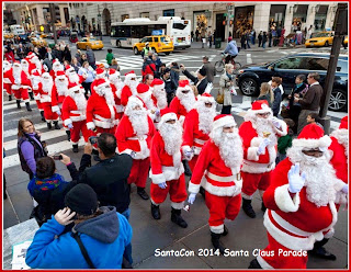 Santacon 2015 Christmas Santa Claus Parade Live Photos