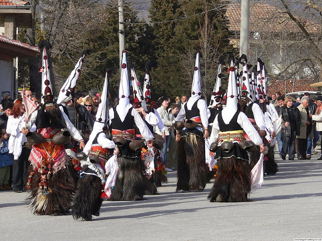Balkan residents transform into 'kukeri' to fend off the evil spirits. Photo: WikiMedia.org.