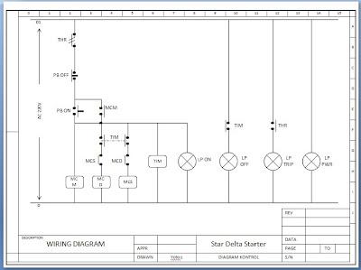 ... : Gambar Diagram Rangkaian Starter Star Delta Motor Listrik 3 Fhase