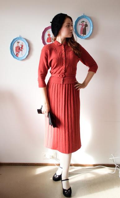 50s Lofties knit suit at Vintage Follies