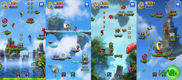 Sonic Jump android screenshot