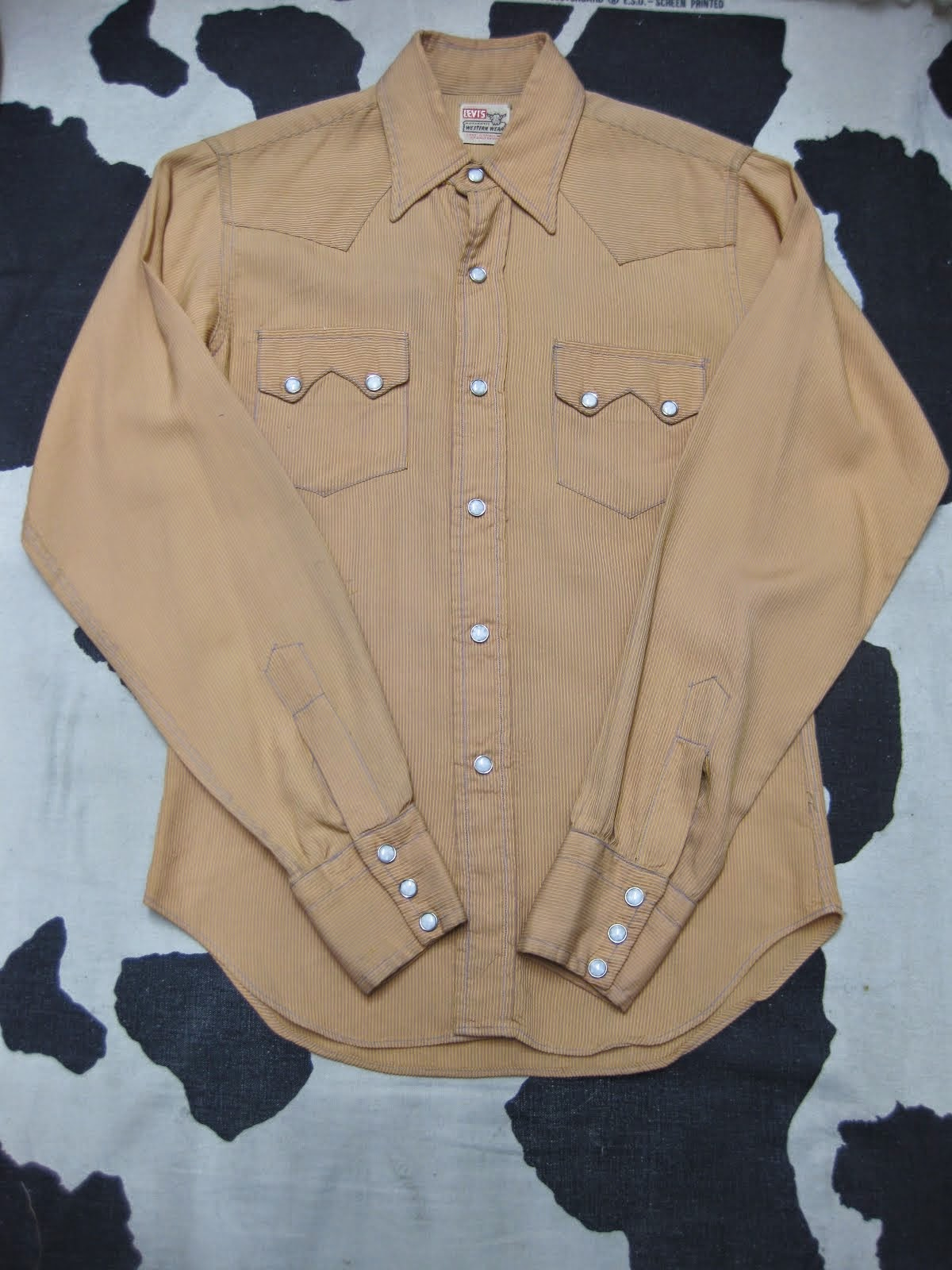 50's LEVI'S               SHORT HORN TAG               WESTERN SHIRTS