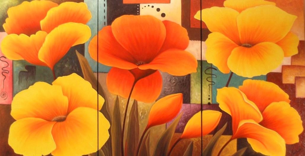 Tienda de cuadros, lienzos, laminas y cuadros impresos  - Imagenes De Cuadros Tripticos Con Flores