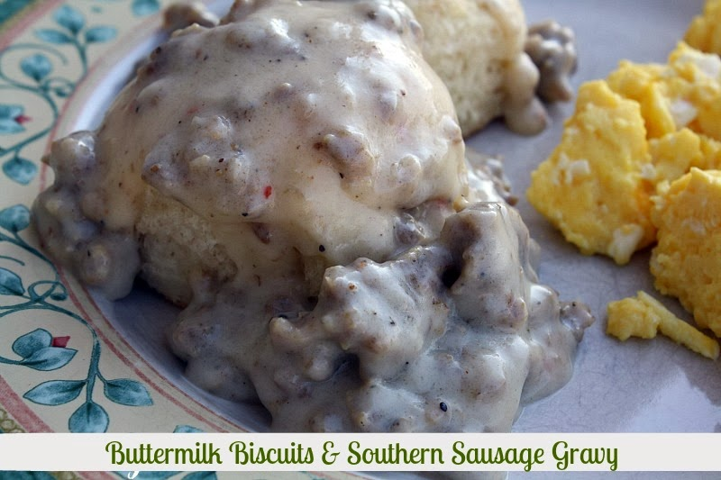 south in your mouth. Homemade Buttermilk Biscuits and Sausage Gravy ...
