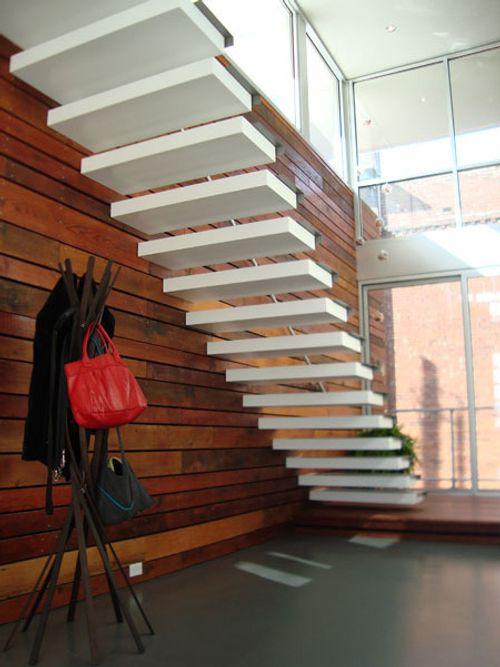 Arte y arquitectura escaleras blancas minimalistas for Diseno de escaleras