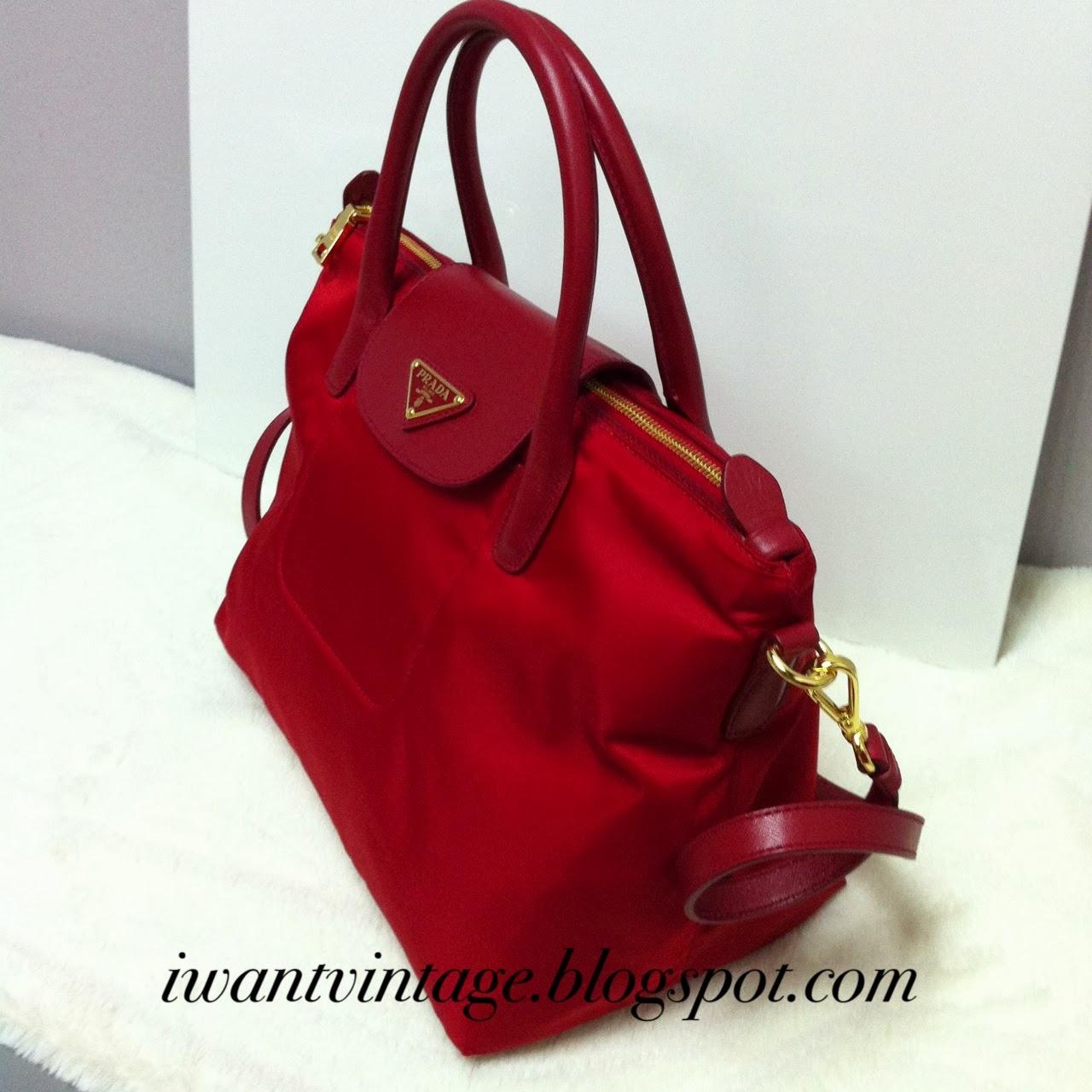 I Want Vintage | Vintage Designer Handbags: Prada Tessuto Saffiano ...