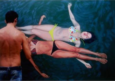 wonderful life like swimming painting