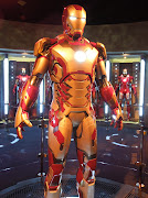 Iron Man 3 Mark 42 armour on display. (iron man mark suit)