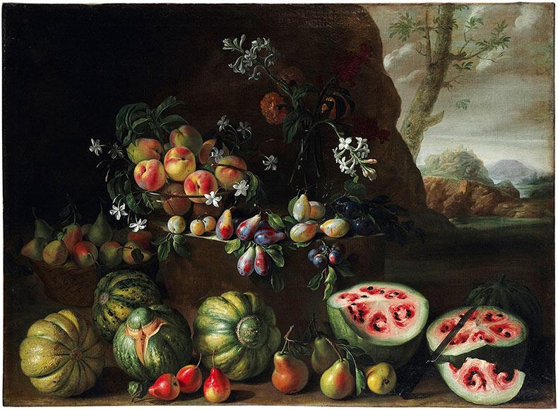Pintura renacentista muestra cómo las sandías lucían antes de la cría selectiva