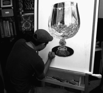 17-Crystal-Goblet-Norlan-Vilchez-Cultural-Diversity-Drawings-with-Charcoal-and-Graphite-www-designstack-co