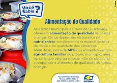 Guaraniaçu alunos tem Alimentação de Qualidade
