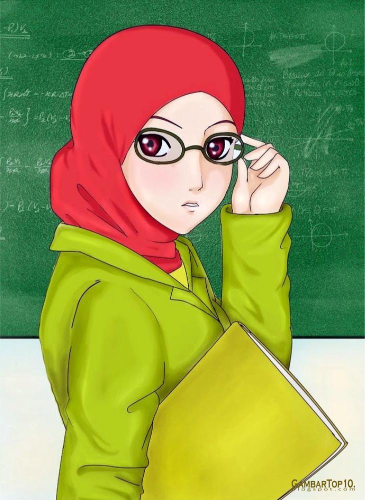 10 Gambar Kartun Muslimah  World HD Wallpapers