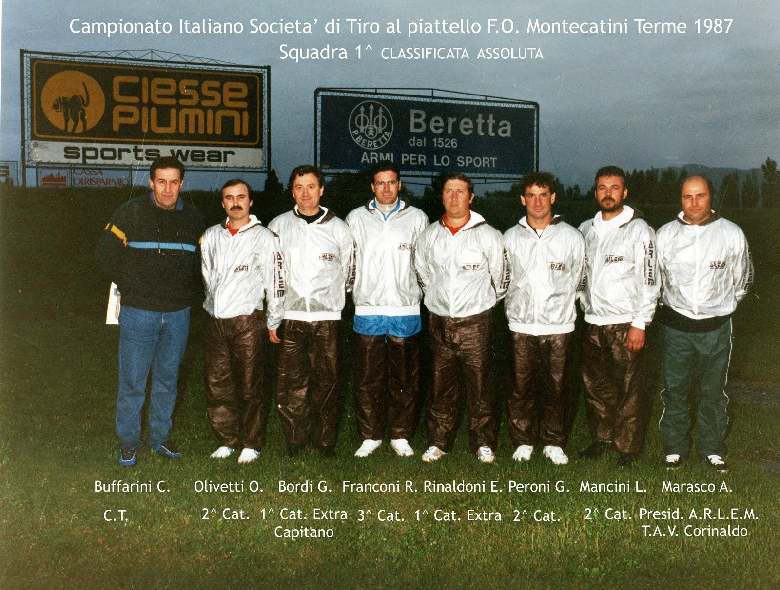 1987 Campionato Italiano Società - Squadra 1° Class. Assoluta (Clicca la foto per il video)