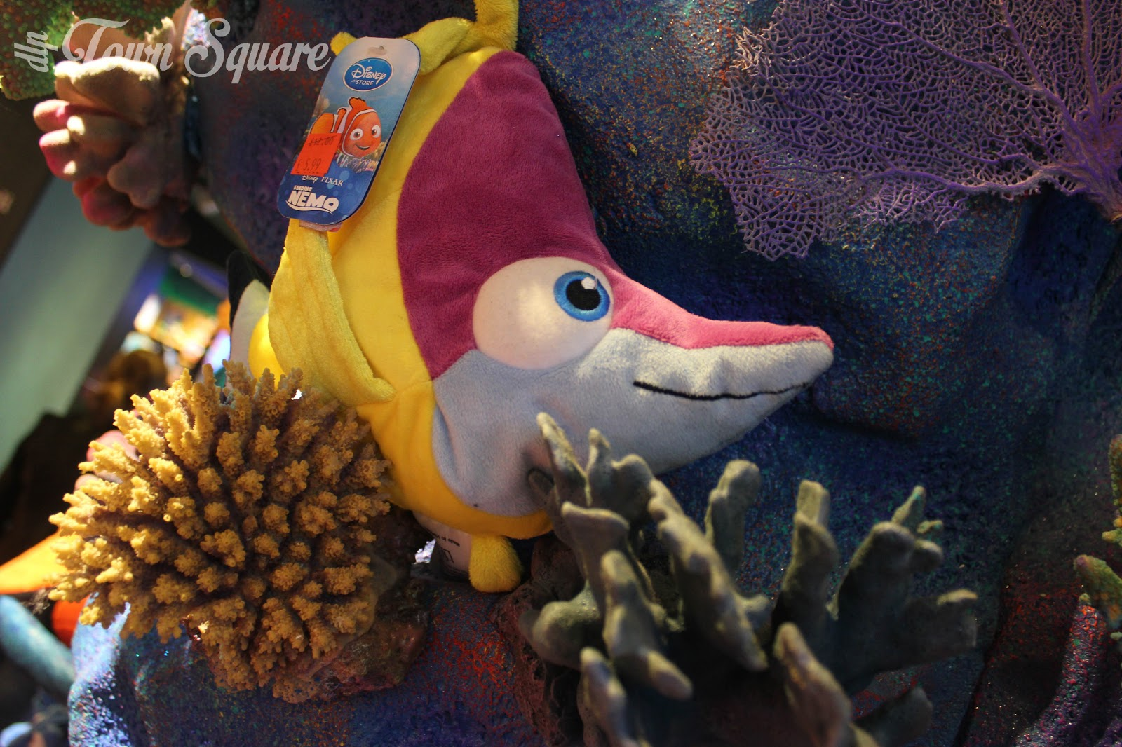 A Finding Nemo plush toy.
