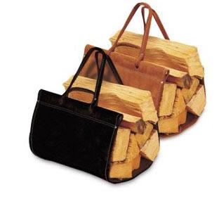 Top Grain Wood Carrier Black Suede