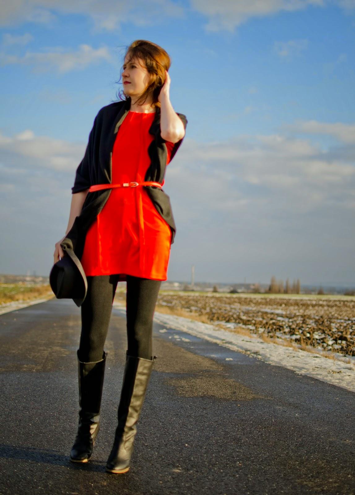 stylizacja z szalem outfit z Isa Flower