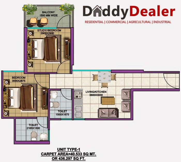SRS Palm Homes Floor Plan Unit-1