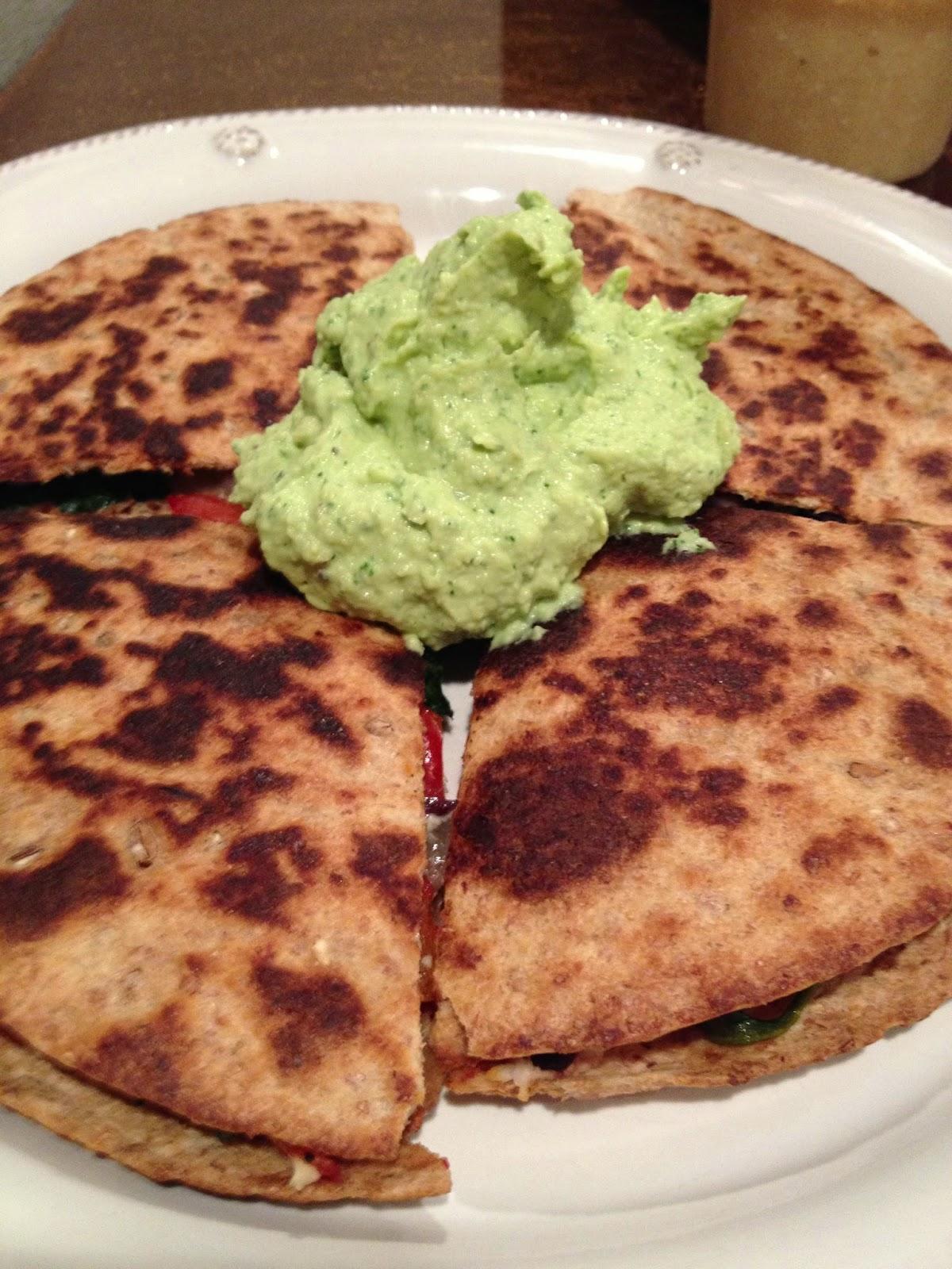 Vegetable-Quesadillas-Avocado-Dip