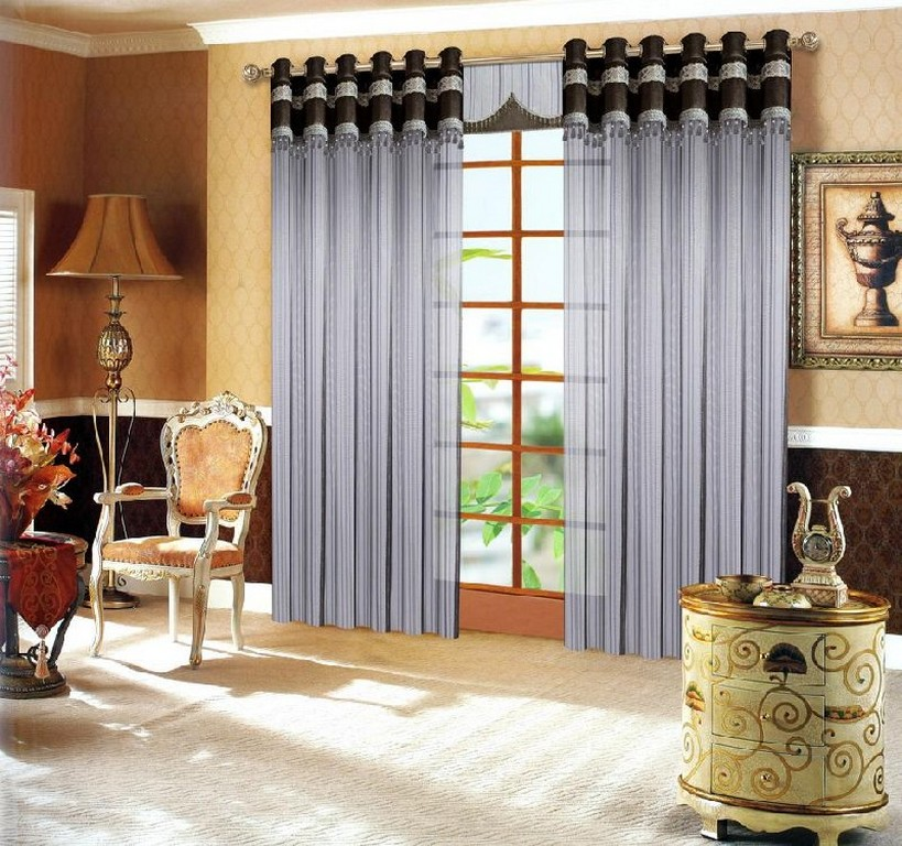 Home modern curtains designs ideas for Home drapes and curtains