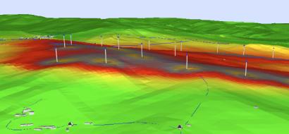 Mapa acustico ambiental Parque eolico