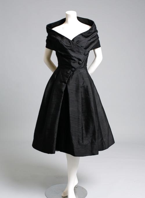 black vintage Christian Dior 1955Vintage Chanel Cocktail Dresses
