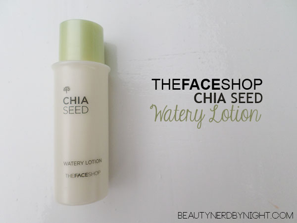 Bag of Love July 2013: THEFACESHOP Chia Seed Watery Lotion