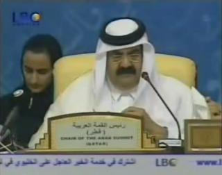 """أمير قطر حمد بن جاسم لرئيسة التشيلي """" الخليج عربي وليس فارسي """""""