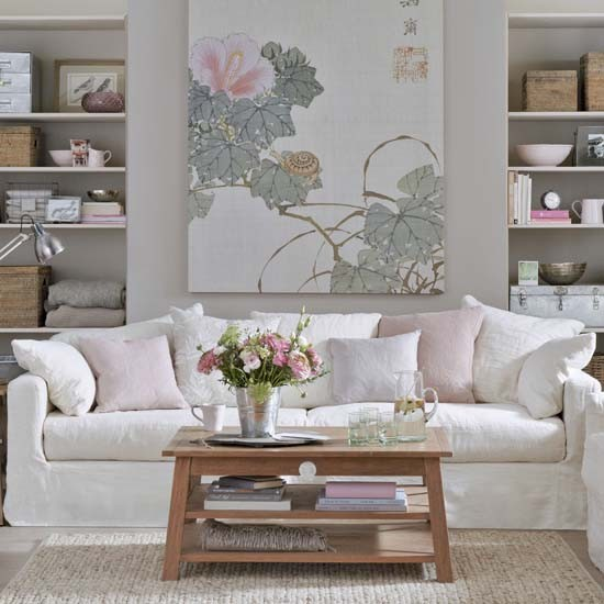 pretty color combination white gray and pink art home