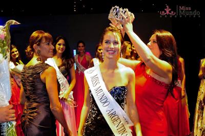 Josefina Herrero Crowned Miss Mundo Argentina 2012