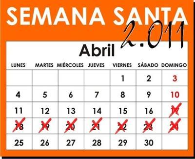 Fechas Semana Santa 2011