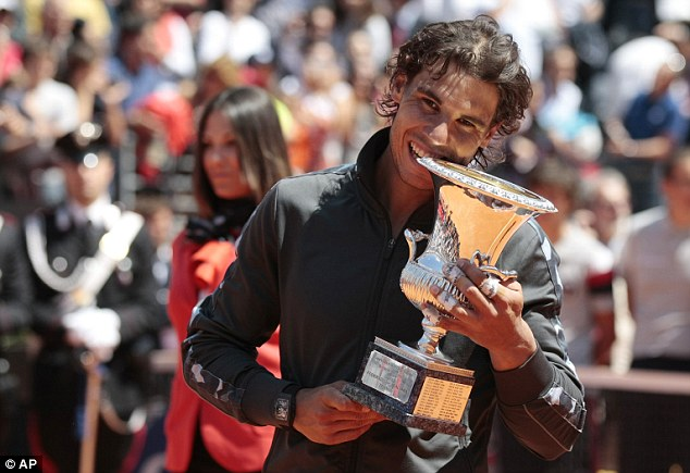 Rafael Nadal with his 7th Rome Masters Title
