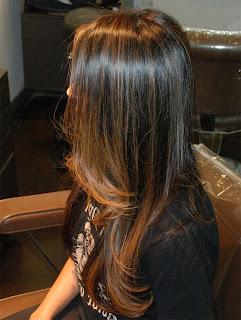 Мелирование на тёмные волосы