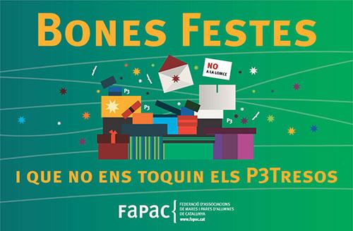 FaPaC bones festes 2015 i no al tancament de linies de P3