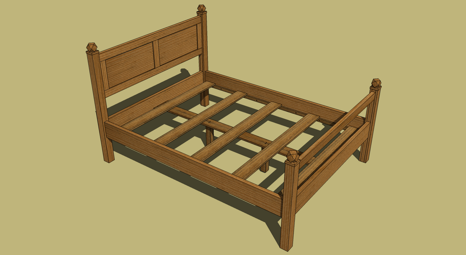 bed construction woodworking