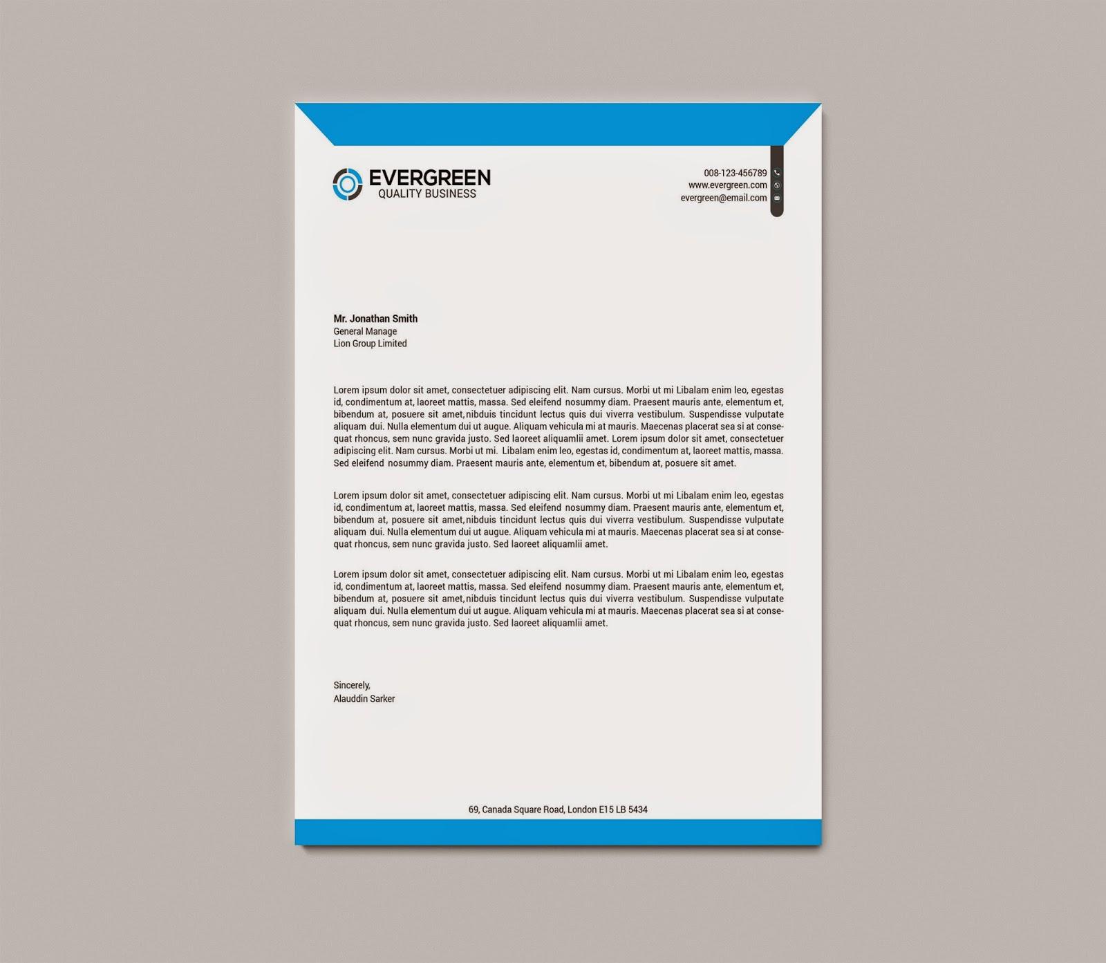 Graphicwind Corporate Letterhead – Corporate Letterhead