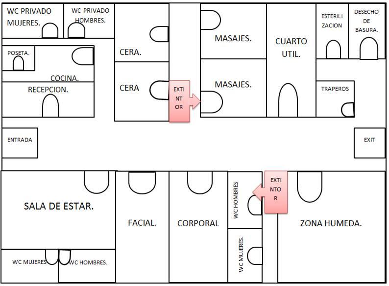 Armonizar spa planos del spa for Planta arquitectonica de una oficina