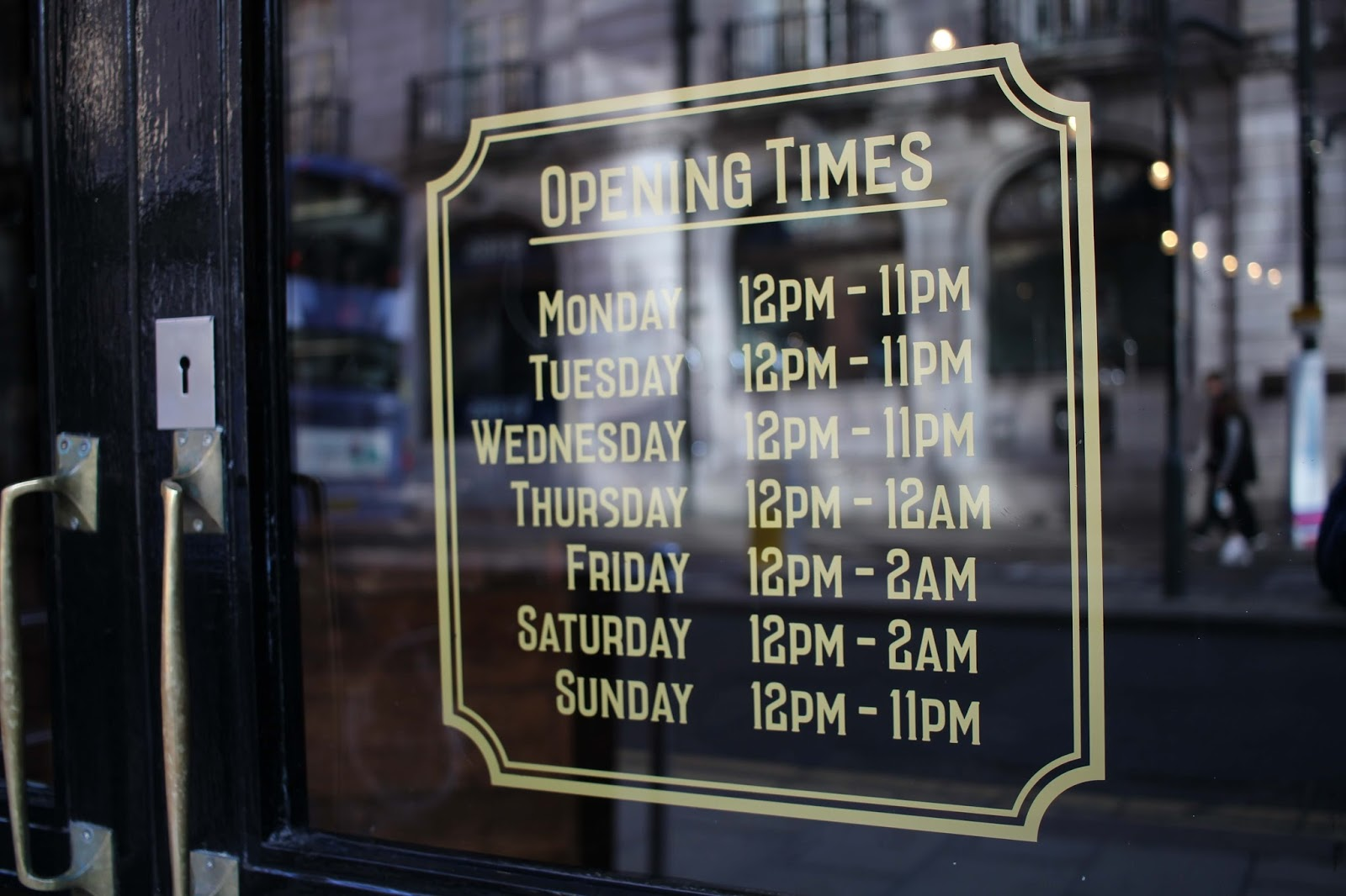 The Decanter Leeds Wine Bar Opening times