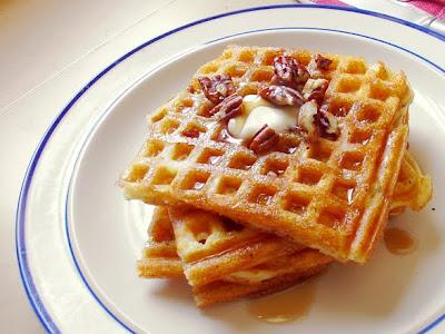 Resep dan Cara membuat kue Crispy Waffles