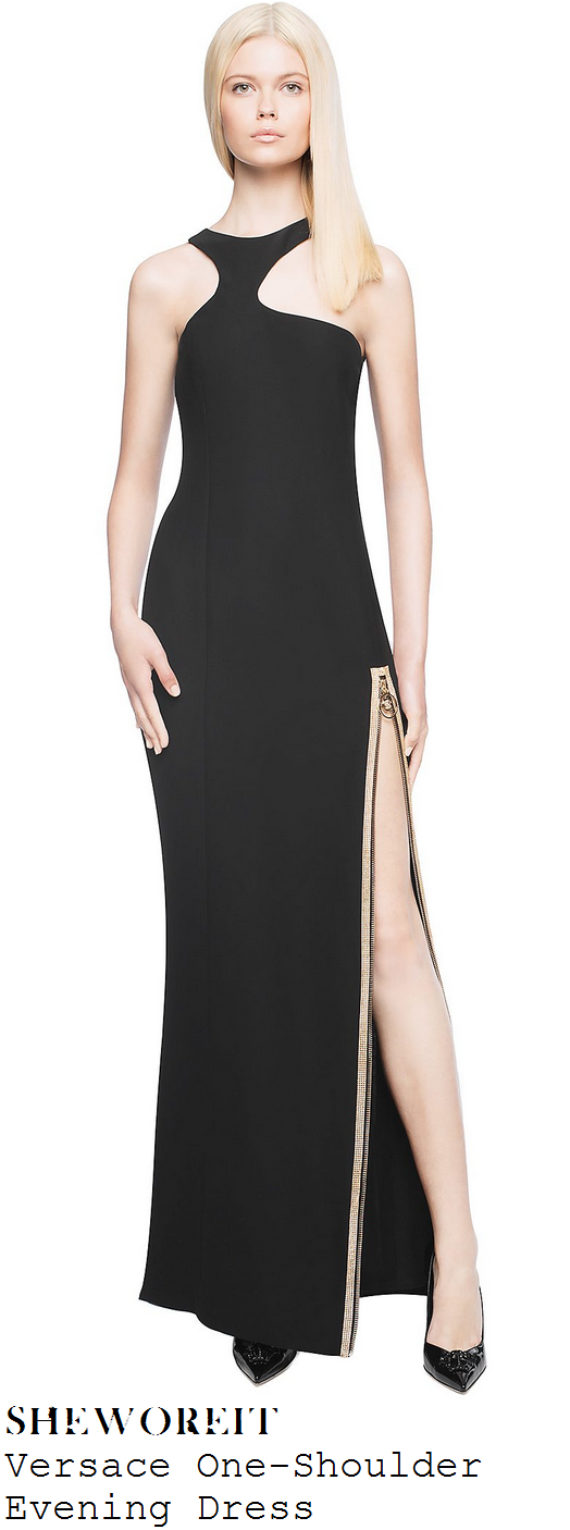 lauren-murray-black-gold-sleeveless-zip-detail-maxi-evening-dress-x-factor