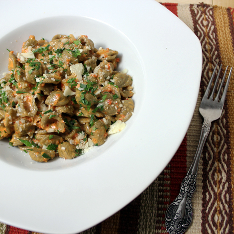 Burp! Recipes: Pasta with Roasted Red Pepper Sauce