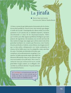 Apoyo Primaria Español Lecturas 6to Grado La jirafa