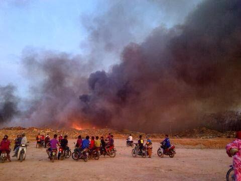 Tapak Pelupusan Sampah Pauh Terbakar, pauh perlis 2014
